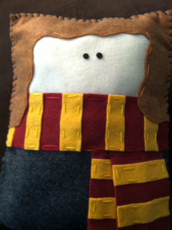 Custom Harry Potter Character/Create Your Own Character from Harry Potter with Scarf Felt Pillow