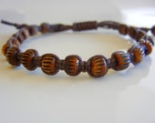 New Mens Tribal Bone Beaded Bracelets in Brown