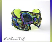 Reserved for T. - Amazon Allure No6 - bead embroidered bracelet