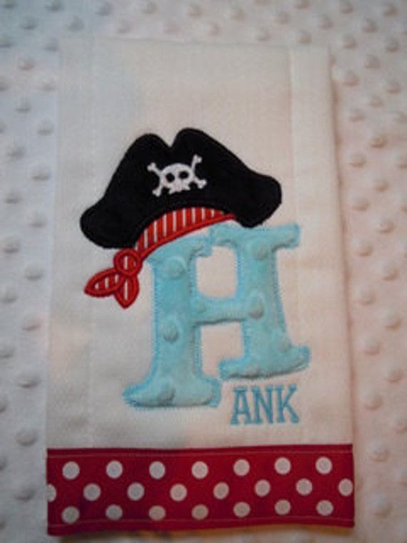 Pirate Alaphabet Burp Cloth
