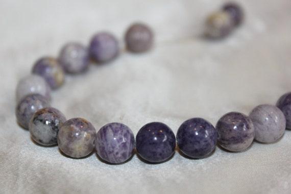 Sugilite Beads, 8mm Beads, Round Beads, Purple Beads