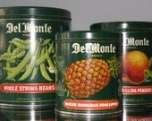 California Fruit Canners Association Del Monte Tins  Made in England Retro Canisters Kitchen Canisters