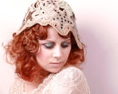 Reserved-Crochet hat Wedding hat Flapper Hat Bridal cap Woman hat Summer hat Flapper hat Wedding cap Cloche hat White hat Bridal hat Boho we