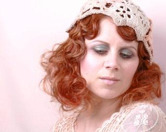 Crochet cap Bridal Cap Bohemian wedding hat Boho hat Woman Crochet hat Summer beanie Summer hat  Crochet beanie hat Women hat  SALE