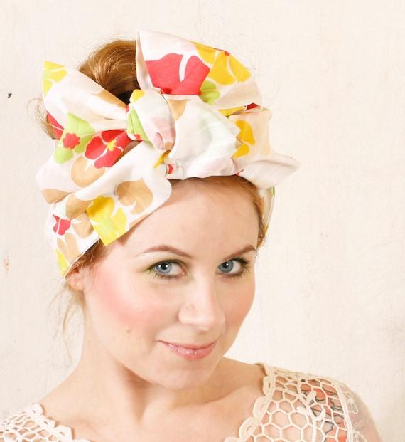 Summer headband Turban headband Rockabilly headband Hair wrap Head scarf Fabric headband Pinup headband Retro headband Floral headband