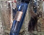 Vintage Evening in Paris Cobalt Blue French Perfume Flacon