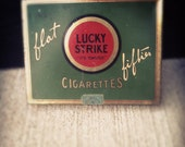"""Lucky Strike Cigarette Tin 1932 """"It's Toasted"""""""
