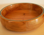 Pecan Bowl with Turquoise Inlay