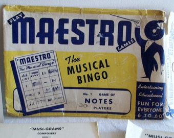 Musi-Grams and a collection of Musical BINGO