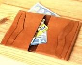 Wallet at Interlocking Italian Leather.Billfold  without seams or glue / Portafoglio a incastro, senza cuciture ne colla