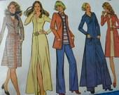 vintage sewing pattern 1970s McCalls 3324 dress jacket pants size 16