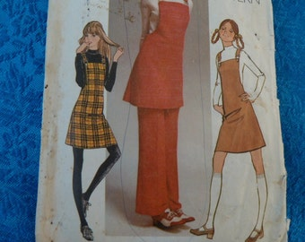 vintage 1970s simplicity pattern 9525 jumper and pants
