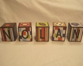 Customized name blocks-personalized custom wood letter blocks-child blocks-kid room decor