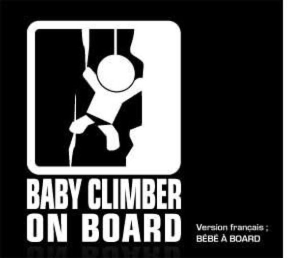 Baby on board sticker - climber - (5.5 x 8)