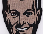 "6"" Bob Dobbs Embroidery Applique Patch"
