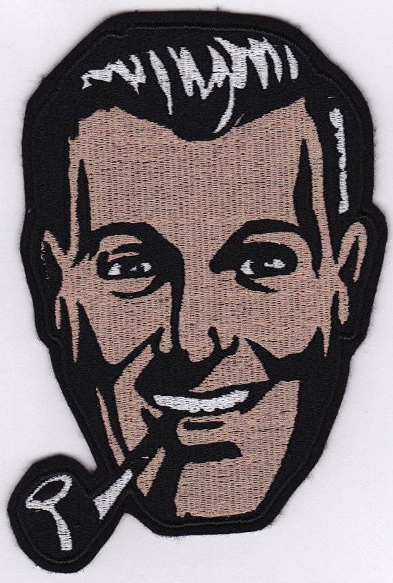 "6"" Bob Dobbs Embroidery Applique Patch"
