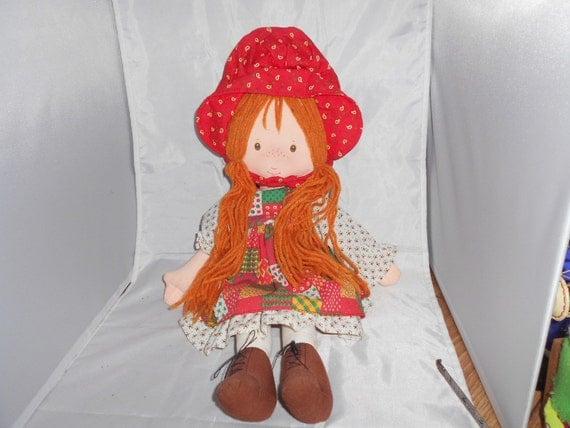HOLLY HOBBIE 1988 Rag doll 20 inch amtoy holly hobbie cute doll