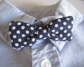 Reserved Listing: Navy and White Polka Dot Bow Tie for Baby Boy