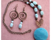 Relieves anxiety Amazonite Focal Necklace