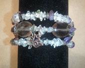 Psychic/Empath Protection Bracelet w/ Lotus charm