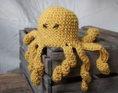Yellow Crocheted Octopus
