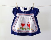 blue baby dress / new old stock / 9 mos