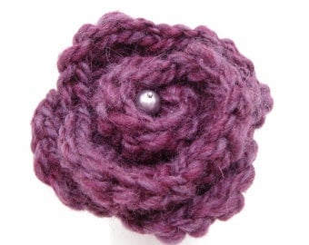 Purple Rosette with Pin Back