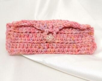 Hand Crocheted Pink Eyeglasses Case