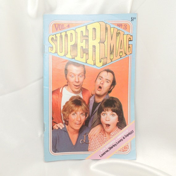 Vintage Laverne & Shirley Super Mag Vol. 4 No. 3 Tween Magazine