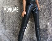 Barbie cloth :Black faux leather pants