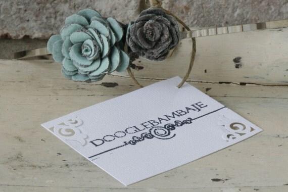 Mint Ash Design- Cool Mint Green Spearmint and Corduroy Charcoal Grey Fabric Rose Flower Headband Wedding- Dainty Rose - Classy Line
