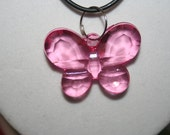Sparkling Butterfly Necklace Pink