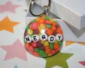 Double Nerdy resin Keychain