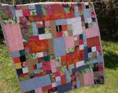 Upcycled Fabric Crib Quilt