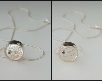 "Reversible Sterling silver ""Bipolarity"" Pendant"