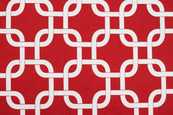 TWO 18 x 18 Pillow Covers Lipstick Red Chain Link Premier Prints - Decorator Pillow Covers