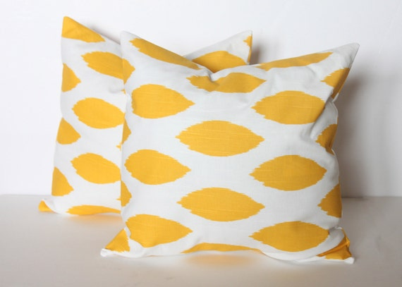 ONE - 18 x 18 Yellow Chipper Pillow Cover - Premier Prints