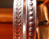 Vintage Sterling Bangle Bracelets Set of Two