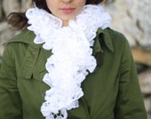 White Handmade Scarf - Ready to ship