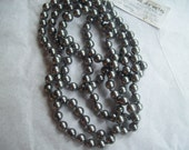 Vintage Miriam Haskell Bright Silver Faux Pearls Beaded Necklace