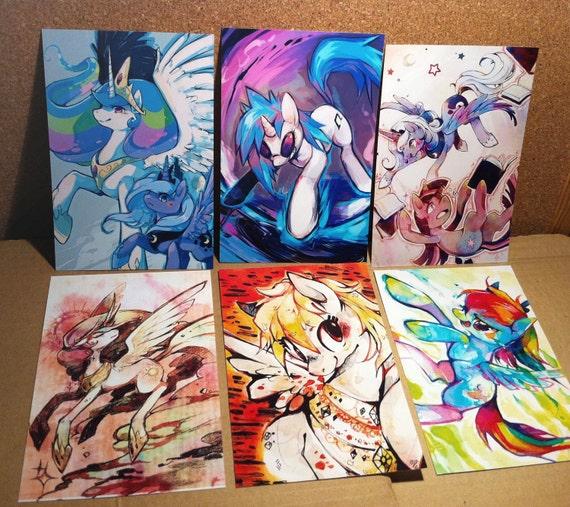 SALE - A6 Print Set - My Little Pony