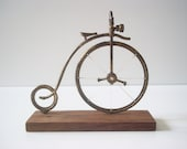 Vintage Bike Model - Brass Toy model - Handmade miniature - Collectible -