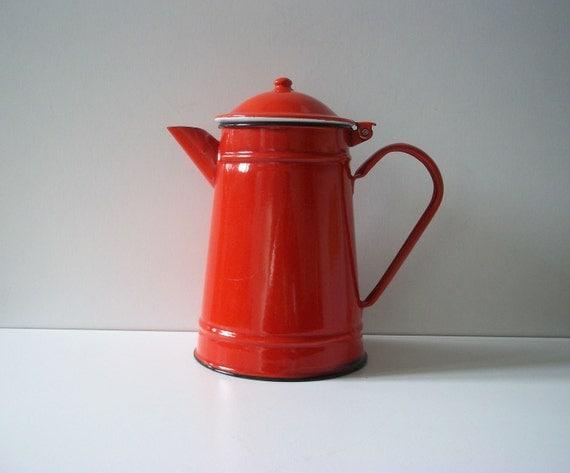 Beautiful Vintage RED TEA Pot Retro Home Decor Or By VehtoShar