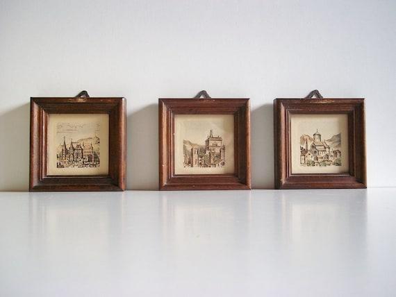 Wall Decor Set Of Three : Set of three vintage frame country wall decor by vehtoshar