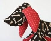 Plush Stuffed Animal, WIENER DOG: Aromatherapy Handmade Scented Toy