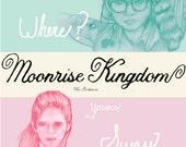 Candy Moonrise Kingdom Mini Printed Illustration Poster