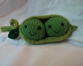 Two Peas in a Pod Knitted Toy (free shipping in the US)