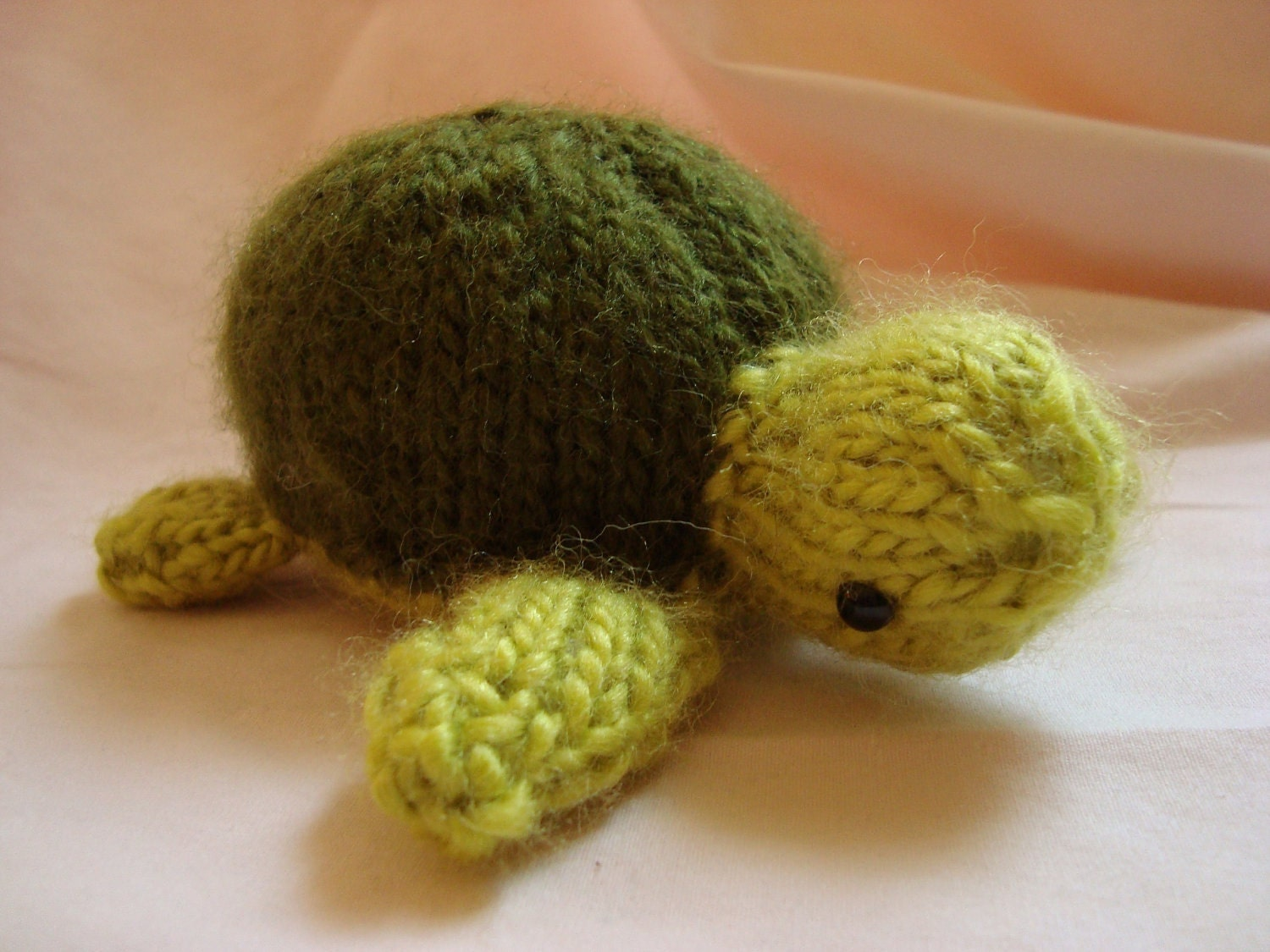 Knitting Patterns Turtle Toy : Knitted Sea Turtle Toy Stuffed Animal FREE SHIPPIN in the
