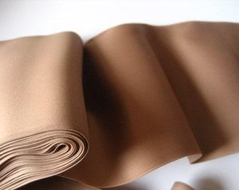5,3 inch WIDE antique french silk cirè wide ribbon