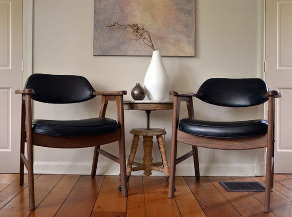 Reserved for skylily84 - Mid Century Modern Arm Chair Pair